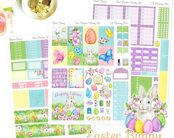 Easter Bunny - Printable Planner Stickers - Instant Download