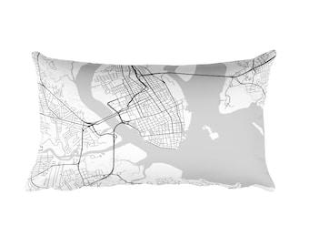 Charleston Pillow, Charleston Decor, Charleston Throw Pillow, Charleston Map, Charleston Art, Charleston SC, Charleston South Carolina