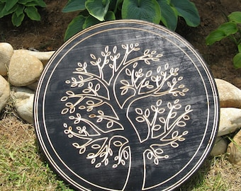Tree of Life -  Routed Wood Disk 3D Wall Decor - Color Options DSK2