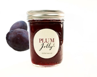 Gourmet Italian Plum Jelly // All Natural // New Hampshire Home Grown // 7 oz