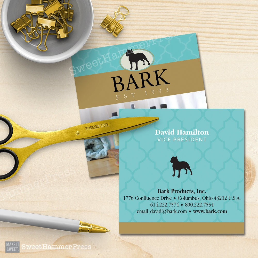 Business Cards Square Printed Business Card Printing Services