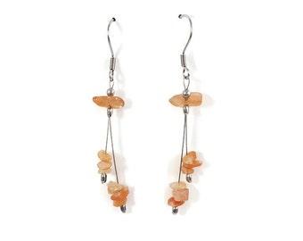 Fashion ethnic earrings, sunstone jewelry, fashion jewelry, natural gemstone jewel, dainty earrings, ethnic jewelry, gemstone earrings styn