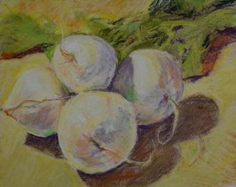 Original Painting, Studio Still Life, Turnips, by Robert Lafond