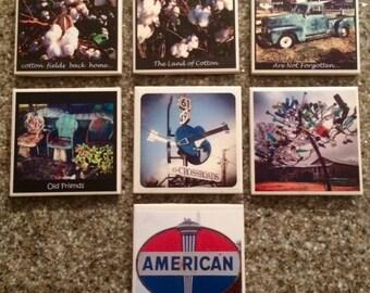 Original Mississippi Delta Photography Coasters - Set of Four Coasters
