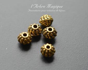Gold spacer bead round fancy ref 36