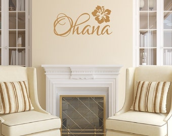 Ohana Vinyl Wall Decal - Beach Decor - Beach Wall Decal - Family Wall Decal - Hawaiian Decor 22440