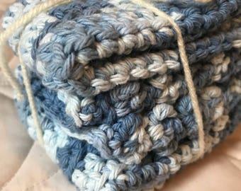 Blueberries & Creme Cotton Cloth (Set of 3)