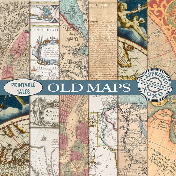 Old maps digital papers vintage map download grungy parchment old maps digital papers vintage map download grungy parchment paper old world map nautical antique historical map america europe gumiabroncs Image collections