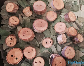 Natural Wood Button
