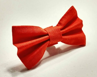 Ready To Ship - Bow Tie Simply Pumpkin Orange Small or Medium Available
