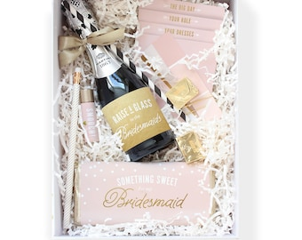 Be My Bridesmaid Box ~ Printable Collection // Champagne & Gold // Ask Bridesmaids, Maid of Honor Gift, Bridesmaid Proposal, Bridesmaid Box