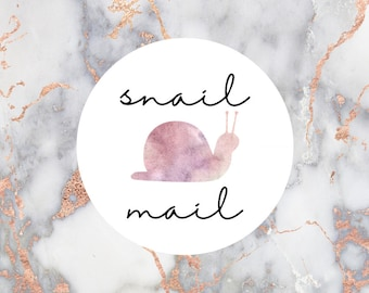 Snail Mail Stickers