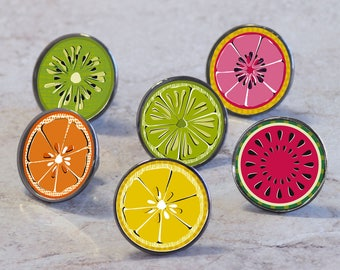 Citrus and Summer Fruit Slice Cupboard Cabinet Knobs