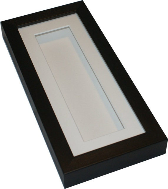Deep shadow box display frame 10x4 Tall for medals pocket