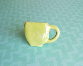 Lime Green Cup Ring