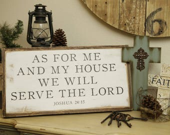 As for me and my house - Custom wooden sign