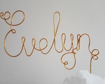 Draht buchstabe kunst | Etsy