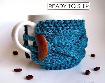 Coffee Cup Cozy, Coffee Cup Sleeve, Coffee Sleeve, Coffee Cozy, Tea Cozy, Coffee Mug Cozy, Mug Warmer, Mug Sweater, Coffee Gifts, Tea Gifts