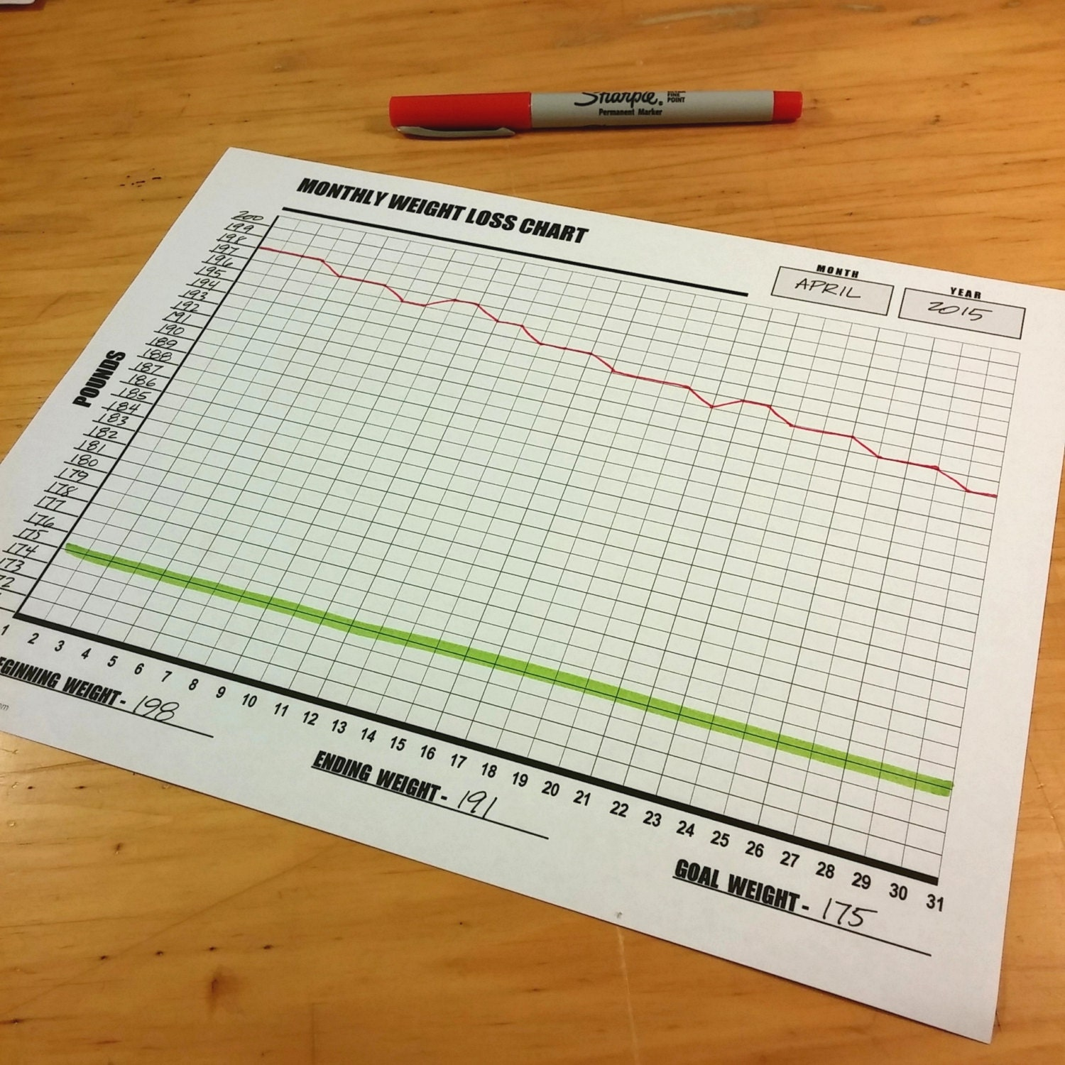 Monthly weight loss chart diy printable stay motivated as zoom nvjuhfo Choice Image