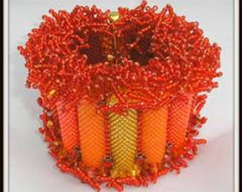 NEWLY RELEASED Beading Tutorial- Peyote Stitch Bracelet - Fireworks Bracelet instructions and pattern by Hannah Rosner