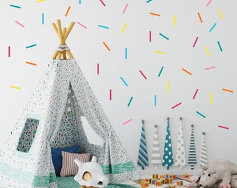 Bright Colored Confetti Wall Decals // Peel and Stick Confetti // Nursery Decals // Confetti Sticker // Playroom Art // Bedroom Wall Sticker