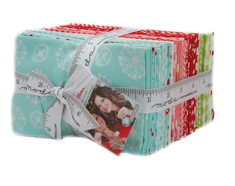 In Stock - VINTAGE HOLIDAY -55160 - Fat Eighth Bundle - by Bonnie and Camille for Moda - Christmas Bonnie & Camille - Christmas - Holiday