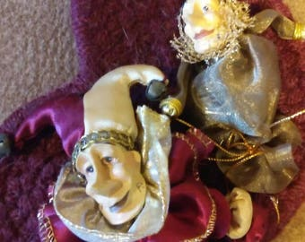 Free Shipping! Wayne Kleski Jester ornaments