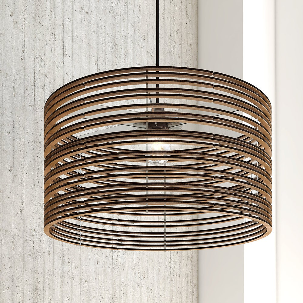 Just Reduced Rustic Handmade 3 Bulb Hanging Light Fixture Or: Pendant Light Wood Lamp Ceiling Fixture Dining Light