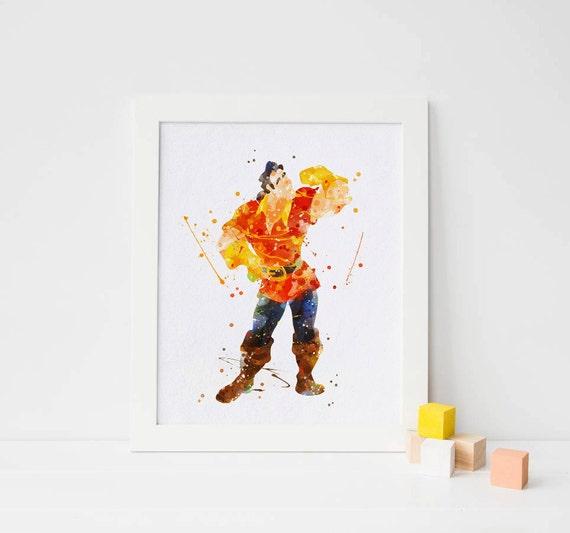 Disney Gaston Druck Schönheit und das Biest Gaston Poster