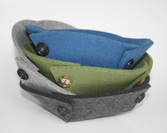 Small Felt Bowls in 5mm Virgin Merino Wool Felt
