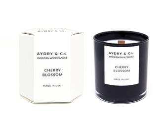 Cherry Blossom Wooden Wick Candle