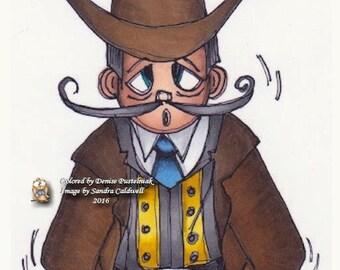995 Cowboy Costume Digi Stamp