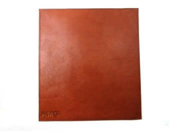 Leather Mousepad, handmade mouse pad, handcrafted leather mouse mat - Free Monogramming