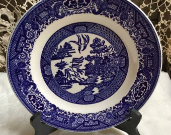 Willow Ware Royal China USA / 10 inch Dinner Plate & Usa made blue willow   Etsy