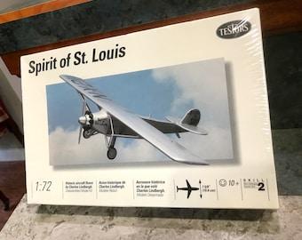 1994 Testors Spirit Of St Louis Airplane Model Kit 1:72 Scale New Factory Sealed