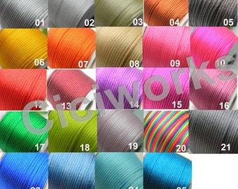 U PICK Wholesale Multi-colors 1 Roll 50 Yards 2.0mm Rattail Satin Silk Cord Chinese Knot Beading Cord