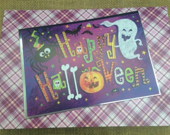 Happy Halloween card. A5. Blank inside for your own message.