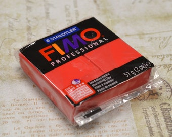 True Red Polymer Clay Fimo® Professional Polyclay Mold Metallic Bar Oven Bake 2 oz