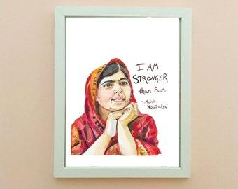 Malala Yousafzai Portrait, inspiring women