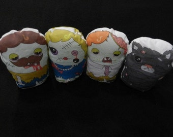 SALE Zombie Family Bean Bag Toy Doll