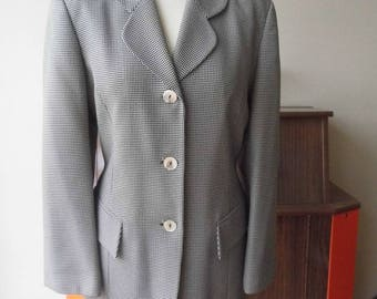 1980s dog tooth check Jacket size 12