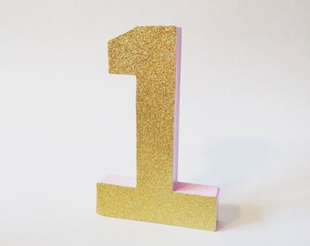Princess party, Pink and gold party,  Pink and gold  birthday, Block number, First birthday decor, Age number