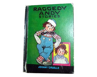 Raggedy Andy Stories Vintage Children's Book - Gruelle Edition - Illustrated Childrens Book - Collectible Book - Gift Book - Raggedy Ann
