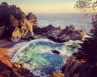 Big Sur Waterfall Art Photograph Print