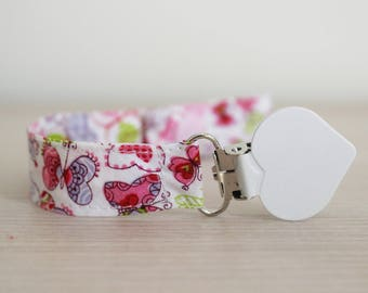Girl pacifier Clip, Pacifier holder girl, Butterfly pacifier, Binky Clip, Paci Clip, Dummy clip, pacifier clip girl, soother clip