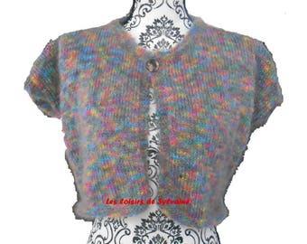 small wispy multicolored short vest