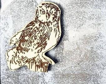 OWL 266 embellishment wooden creations