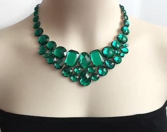 tulle necklace - emeralde bib collar tulle necklace