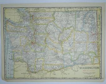 1934 VintageWashington State Map