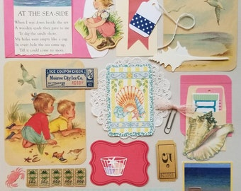 At the Sea-Side Vintage Ephemera Collection | 25+ pieces | Mixed Media | Junk Journal | Scrap Pack | Inspiration Kit | Paper Arts and Crafts